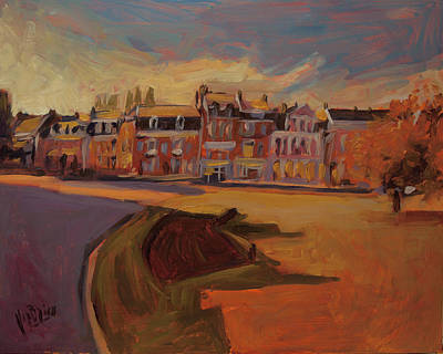 Autumn Light Over The Queen Emma Square Maastricht Poster by Nop Briex