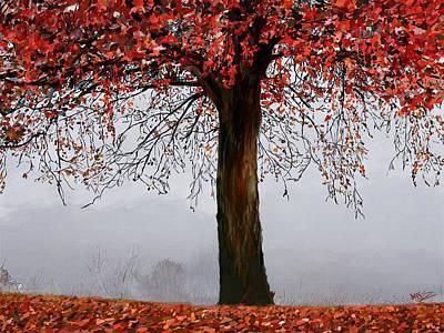 Autumn Mist Poster by James Shepherd