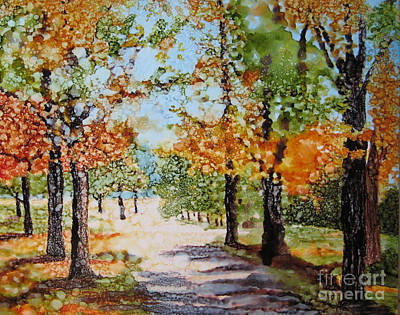 Autumn Morning Poster by Diane Marcotte