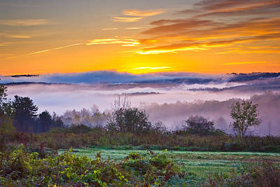 Autumn Morning In The Hills Poster by Benjamin Williamson