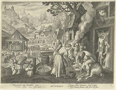 Autumn, Nicolaes De Bruyn, Marten De Vos Poster