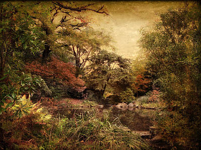 Poster featuring the photograph Autumn On Canvas by Jessica Jenney