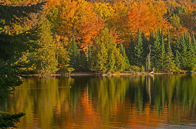 Autumn On Grand Sable Lake Poster