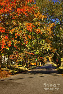 Autumn On South Street Greensboro Ga Poster by Reid Callaway