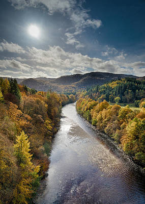 Autumn On The River Garry Poster by Dave Bowman