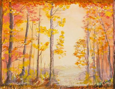 Autumn Path Poster by Cathy Long