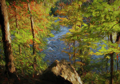 Autumn Peek By Potomac River Poster