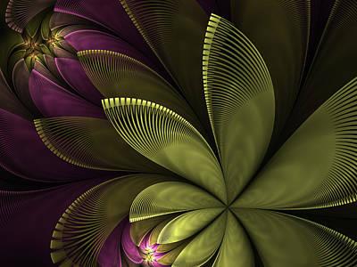 Poster featuring the digital art Autumn Plant II by Gabiw Art