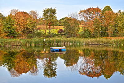 Autumn Pond Poster by Frozen in Time Fine Art Photography