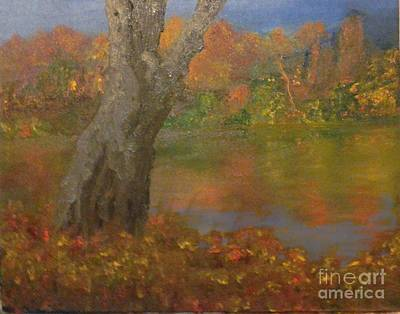 Poster featuring the painting Autumn Pond by Holly Martinson