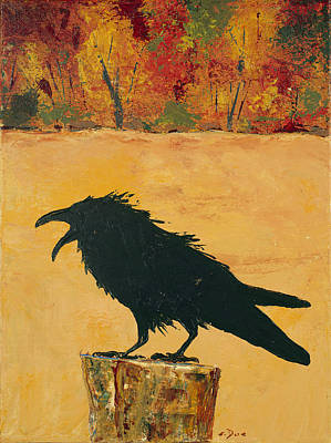 Autumn Raven Poster by Carolyn Doe