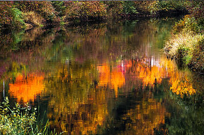 Poster featuring the photograph Autumn Reflection by Crystal Hoeveler