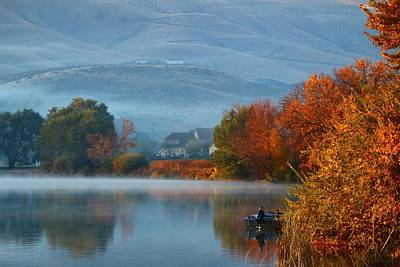 Poster featuring the photograph Autumn Reflection by Lynn Hopwood