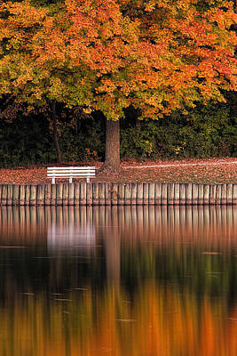Autumn Reflections Poster by Andrew Soundarajan