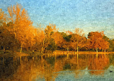 Autumn Reflections Poster by Angela A Stanton