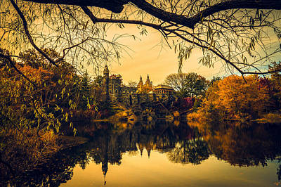 Autumn Reflections At Belvedere Castle Poster by Chris Lord