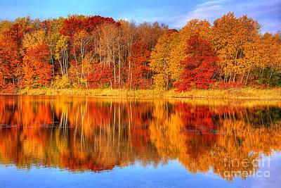 Autumn Reflections Minnesota Autumn Poster