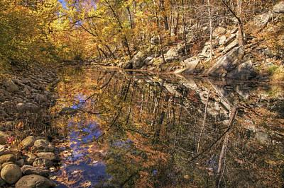 Autumn Reflections On Big Shoal Creek - Arkansas  Poster