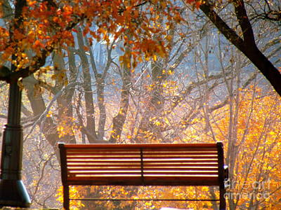Poster featuring the photograph Autumn Retreat by France Laliberte