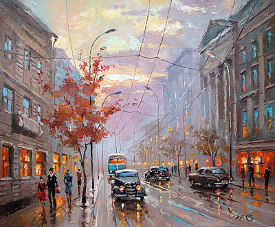Poster featuring the painting Autumn Rhapsody by Dmitry Spiros