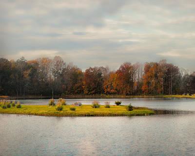 Autumn Rising At The Duck Pond - Autumn Scene Poster by Jai Johnson