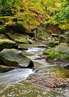 Autumn River Poster by Frozen in Time Fine Art Photography