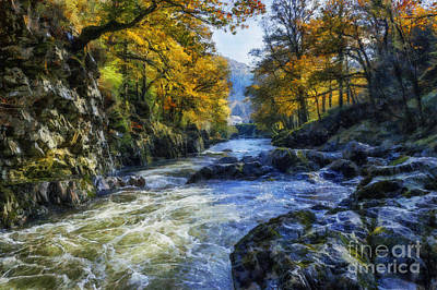 Autumn River Valley Poster