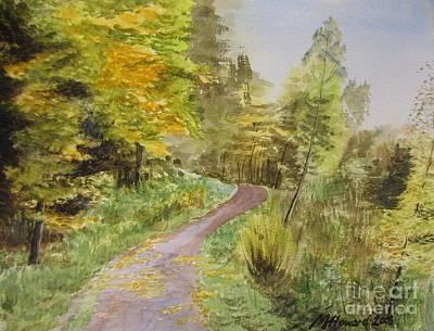 Autumn Riverside Walk Version1 Poster