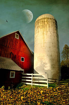 Autumn Silo Poster by Diana Angstadt