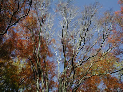 Poster featuring the digital art Autumn Sky by Kelvin Booker