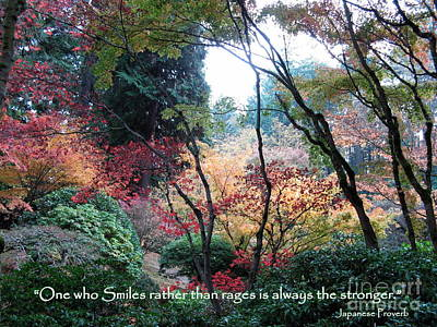 Autumn Smile Poster by Marlene Rose Besso