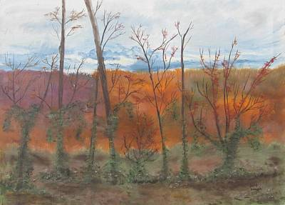 Poster featuring the painting Autumn Splendor by Diane Pape