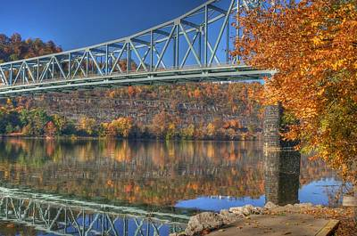 Autumn Splendor On The Ohio River  Poster by Jay Seeley