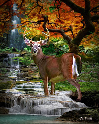 Autumn Stag Poster