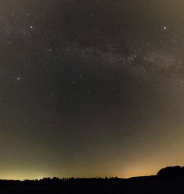 Autumn Stars And Light Pollution Poster by Eckhard Slawik