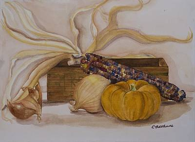 Autumn Still Life Poster by Rebecca Matthews