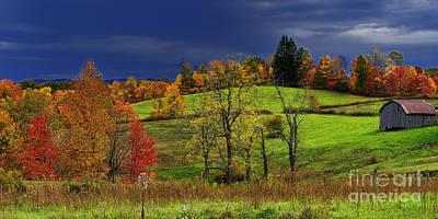 Autumn Storm Poster by Thomas R Fletcher