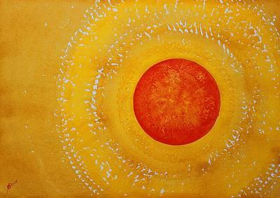 Autumn Sun Original Painting Poster