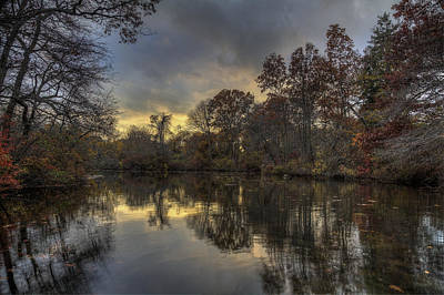 Autumn Sunset On West Brook Pond Poster