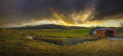 Autumn Sunset Over Meech Creek Poster