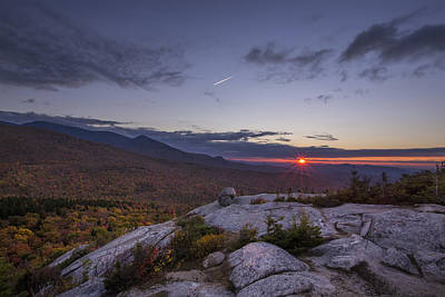Autumn Sunset Over Sugarloaf Mountain Poster