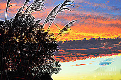 Autumn Sunset Poster by Luther Fine Art