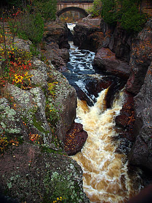 Autumn Temperance River Poster by James Peterson
