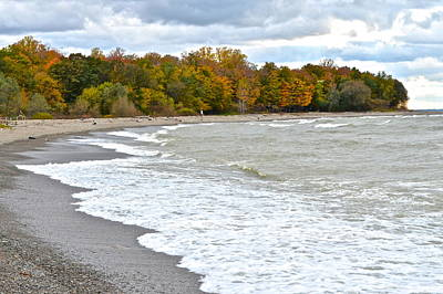 Autumn Tide Poster by Frozen in Time Fine Art Photography