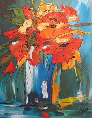Autumn Vase Poster by Terri Einer