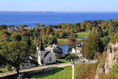 Autumn View On Mackinac Island Poster