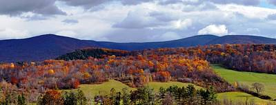 Autumn View Toward Mount Greylock Poster