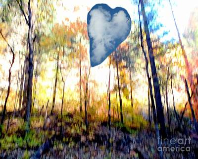 Autumn West Fork Bell Rock Heart Cloud Poster by Marlene Rose Besso