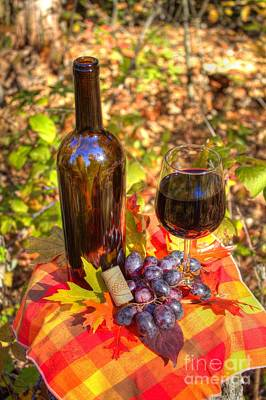 Autumn Wine Poster by Jimmy Ostgard