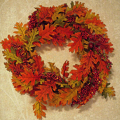 Autumn Wreath Poster by Aimee L Maher Photography and Art Visit ALMGallerydotcom